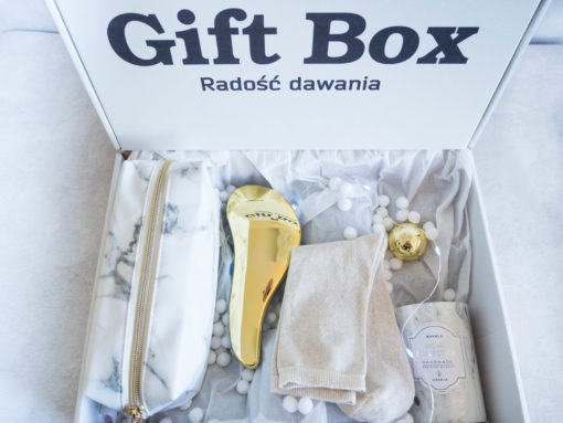 """Damski Box """"Marmur w śniegu"""""""