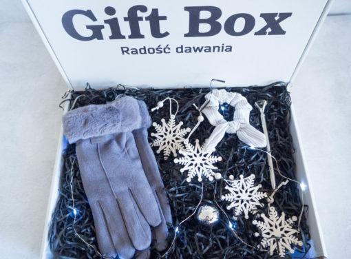 """Damski Zimowy Gift Box """"Love Grey"""""""
