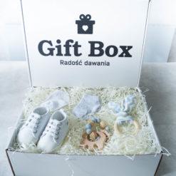 Dziecięcy Box błękitno-biały