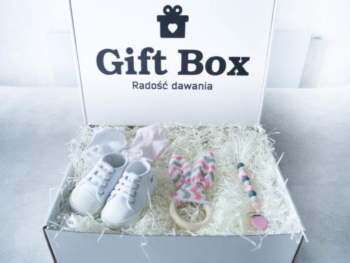 Dziecięcy Box różowo-biały