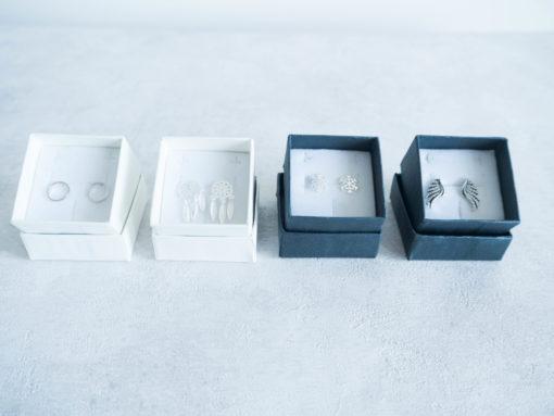 Kolczyki srebrne różne wzory