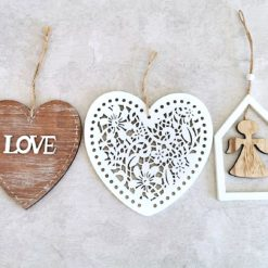 Drewniane wiszące ozdoby, różne wzory
