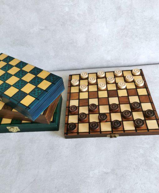 Szachy drewniane 3 kolory