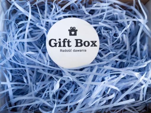 Wiórki papierowe niebieskie