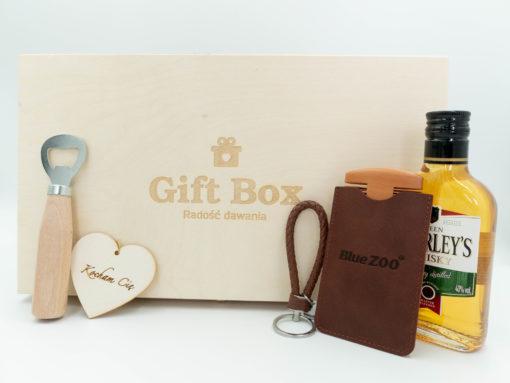 """Gift Box dla Niego """"Drewniane serce"""""""